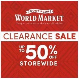 Clearance Sale: Up to 50% Off Sitewide