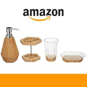 $31.53 for 4-Piece Bamboo Bathroom Vanity Set