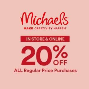20% Off All Regular Price Purchase