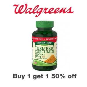 Buy 1, Get 1 50% Off Nature's Truth Vitamins & Supplements