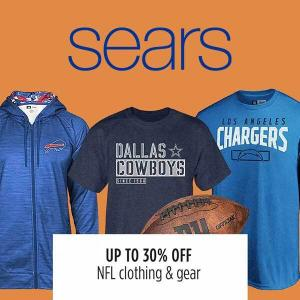 Up to 30% Off NFL Clothing Gear