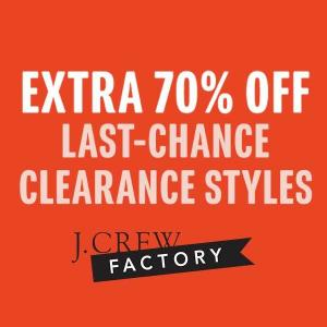 Extra 70% Off Last-Chance Clearance Styles