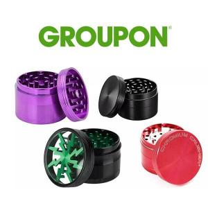 70% Off 4-Layer Herb Grinder with Bonus Container
