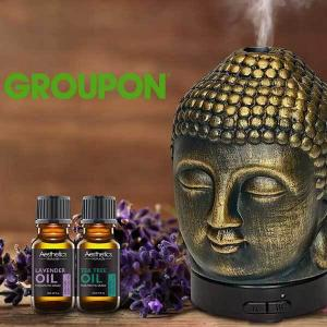 85% Off Ultrasonic Cool-Mist Aroma Diffuser w/ Optional Oils