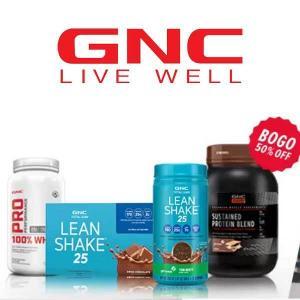 BOGO 50% Off GNC Total Lean, GNC AMP & GNC Pro