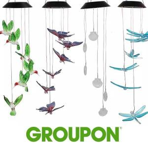 81% Off LED Solar Hummingbird Wind Chime