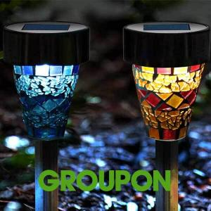 28% Off Solar Garden Mosaic Light Set (6 or 12-Pack)