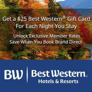 Free $25 Gift Card for Each Night Stay