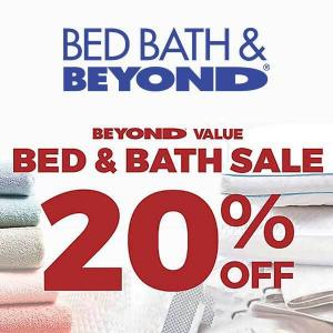 Bed & Bath Sale: Up to 20% Off