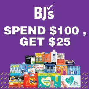 $25 BJ's Gift Card w/ $100 Spend on Household Items