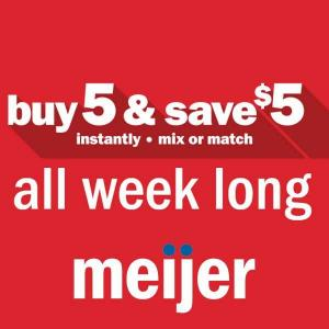 Ends 10/31: Mix n Match: Buy 5, Save $5 Mix or Match