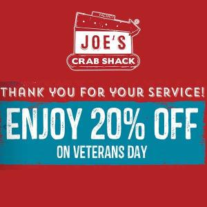 20% Off on Veterans Day
