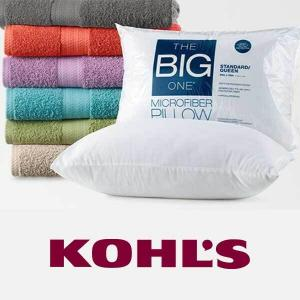 $3.49 The Big One Bath Towel or Standard Pillow