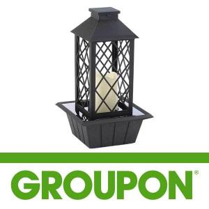 50% Off Black Tabletop Fountain Lantern