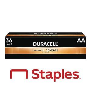 20% Off 36 Pack Duracell Coppertop AA Alkaline Batteries