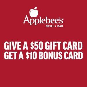 Give a $50 Gift Card, Get a $10 Bonus Gift Card
