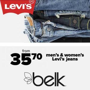 Men's and Women's Levi's Jeans Starting at $35.70