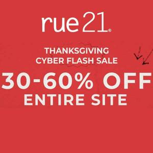 30% to 60% Off Entire Site in Thanksgiving Cyber Flash Sale