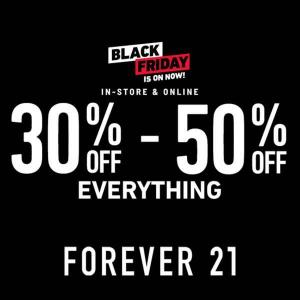 30% to 50% Off Everything in Black Friday Sale