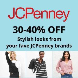 30-40% Off Stylish Looks from Your JCPenney Brands