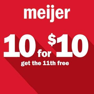 10 for $10 on Select Items + Get the 11th Item for Free