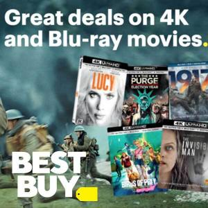 Deals on 4K and Blu-Ray Movies