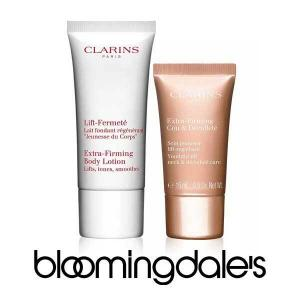 FREE Extra-Firming Neck & Décolleté and Extra-Firming Body Lotion with Any $75 Clarins purchase.