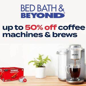 Up to 50% Off Coffee Machines, Brews and More