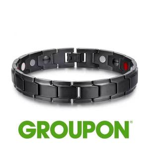 91% Off Men's Stainless Steel Double Row Magnetic Therapy Bracelet