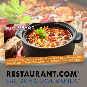 (3) $25 Restaurant.com eGift Cards for $12