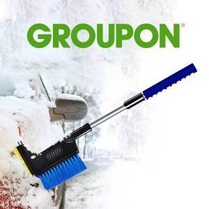 "75% Off 24"" Extendable Snow Brush Ice Scraper"