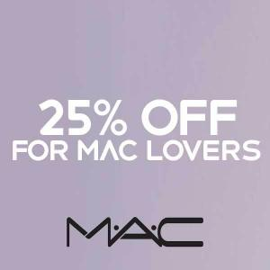 25% Off for MAC Lovers