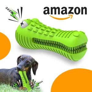 17% Off Squeaky Dog Toy Toothbrush for Aggressive Chewers