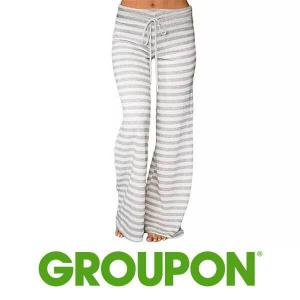 82% Off Fashion Striped Casual Long Pants for Women