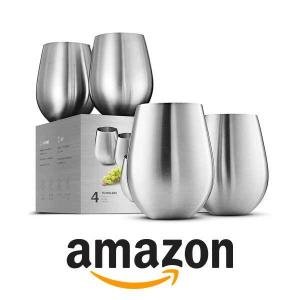 15% Off Stainless-Steel Wine Glass Set