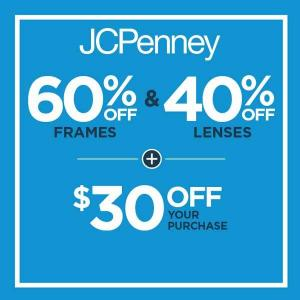 60% Off Frames & 40% Off Lenses + Extra $30 Off Your Purchase