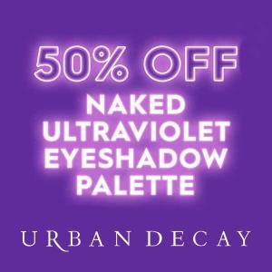 50% Off Naked Ultraviolet Eyeshadow Palette