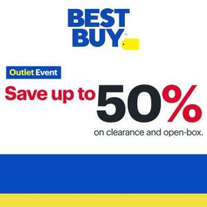 Outlet Event: Up to 50% Off Clearance and Open-Box Items