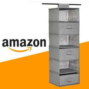 15% Off 6-Tier Hanging Shelf Closet Storage Organizer with Removable Drawers