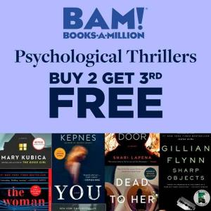 Psychological Thrillers Buy 2 Get 3rd Free