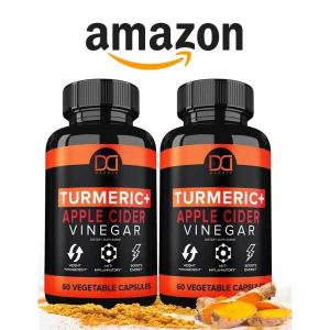 32% Off Turmeric Capsules Supplement with Apple Cider Vinegar Pills