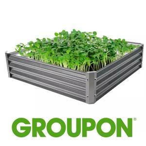 "24% Off Corrugated 40"" x 40"" Metal Gardening Bed"