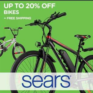 Up to 20% Off Bikes + Free Shipping