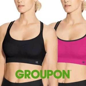 70% Off 2 Pack Champion Women's Seamless Criss Cross Sports Bras