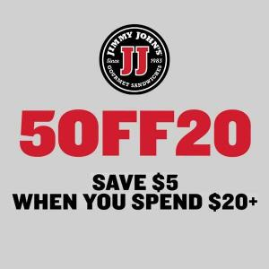 $5 Off Any Order with $20 or More Purchase