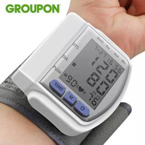 77% Off LCD Digital Automatic Wrist Cuff Blood Pressure Monitor