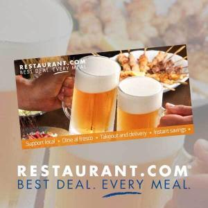 6/14: (3) $25 Restaurant.com for $12