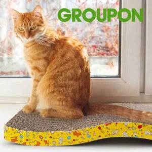 58% Off PetLuv Curved Cardboard Cat Scratcher Pads (2 Pack)