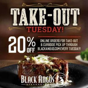 20% Off Take Out Tuesday
