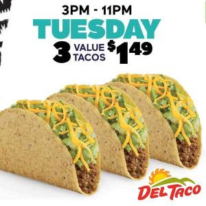 3 Value Tacos for $1.49
